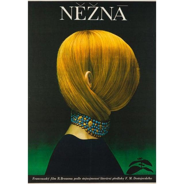 Arguably the most famous Czech film poster, certainly one of its best. Olga Poláčková-Vyleťalová design For Robert Bessons...