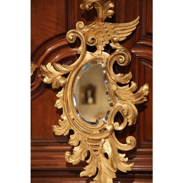 Mid-19th Century French Louis XV Carved Gilt Rococo Mirrors With Wings - A Pair For Sale In Dallas - Image 6 of 9