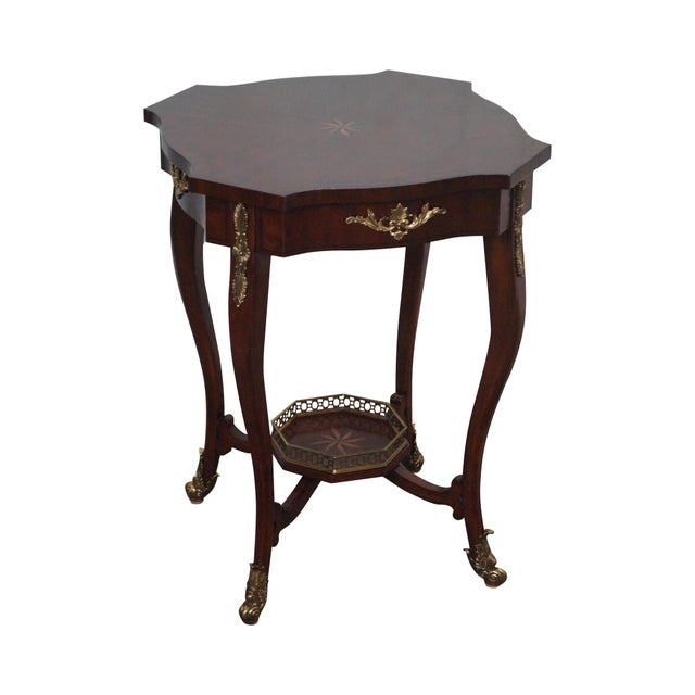 Maitland Smith Louis XV Style Brass Ormolu Side Table - Image 1 of 10