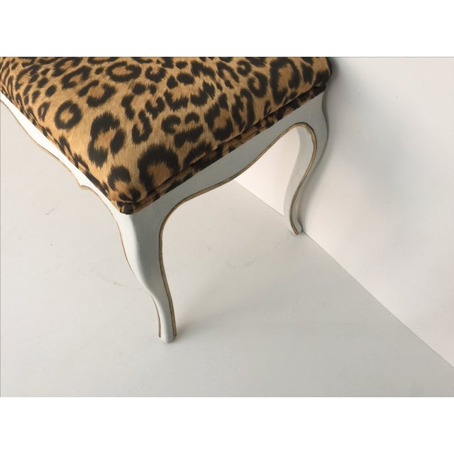 Leopard Hollywood Regency Style Bench - Image 3 of 4