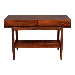 Ib Kofod-Larsen Rosewood Console Table for Faarup For Sale