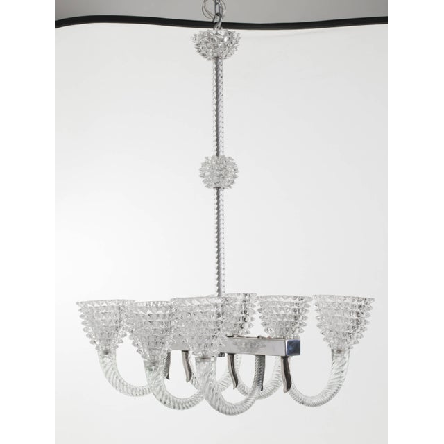 Murano Glass Chandelier by Ercole Barovier For Sale - Image 10 of 11