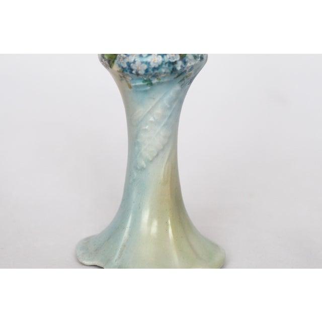 Victorian Porcelain Forget-Me-Not Candle Holder - Image 9 of 11