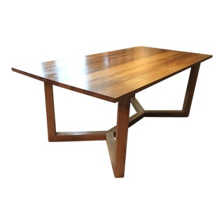 Italian Rectangular Oak Dining Table