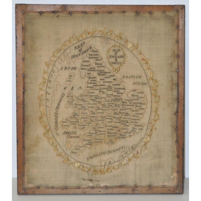 Map of England and Wales Early 19th Century Sampler Superb early to mid 19th century sampler done by a very patient and...