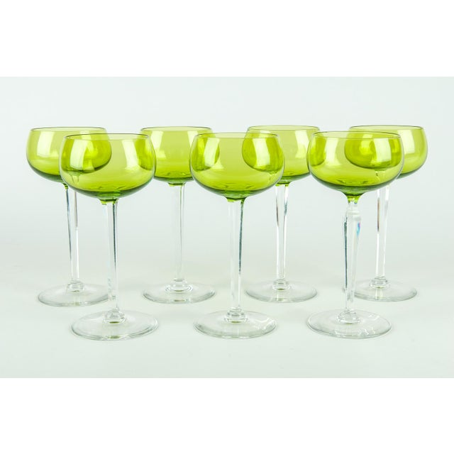 Contemporary Vintage French Crystal Barware Set 7 Pieces For Sale - Image 3 of 5