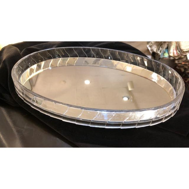 Art Deco Oval Lucite Edgemirrored Vanity Tray For In New York Image 6 Of