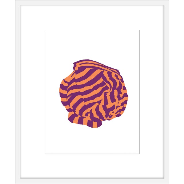 "Contemporary Medium ""Aubergine Knot 1"" Print by Angela Chrusciaki Blehm, 25"" X 30"" For Sale - Image 3 of 3"