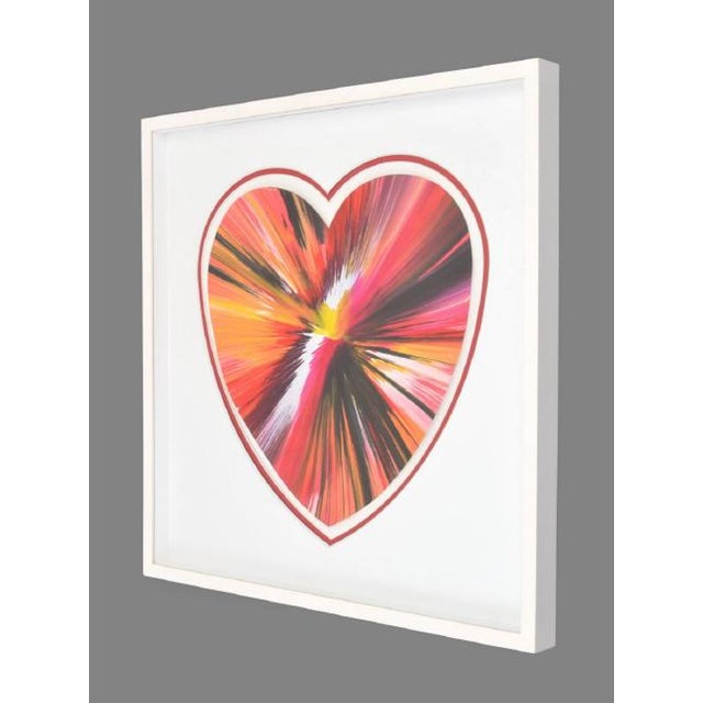 Contemporary Damien Hirst Spin Art Heart, Ukraine, 2009 For Sale - Image 3 of 6