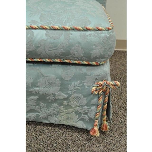 Vanguard Furniture Rolled Back Blue Upholstered Slipper Chair - Image 9 of 11