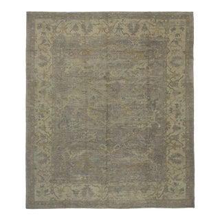 Contemporary Modern Turkish Oushak Rug with Transitional Style in Light Colors