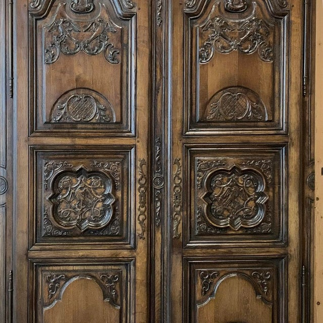 Antique French Louis XIV Walnut Armoire For Sale In Dallas - Image 6 of 13