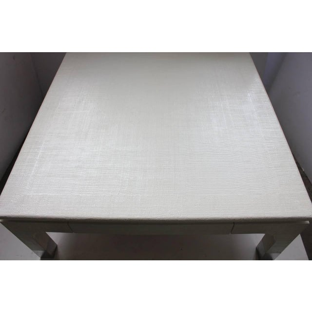 Modern Harrison-Van Horn Modern Lacquered Raffia Coffee Table For Sale - Image 3 of 6