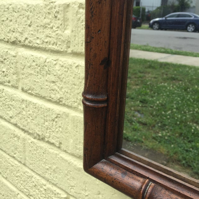 Asian Faux Bamboo Mirror For Sale - Image 3 of 7