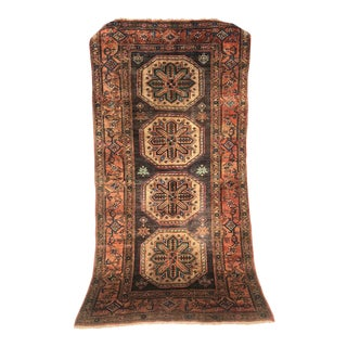 Antique 1930s Persian Karache Serapi Heriz Rug - 4′2″ × 8′3″