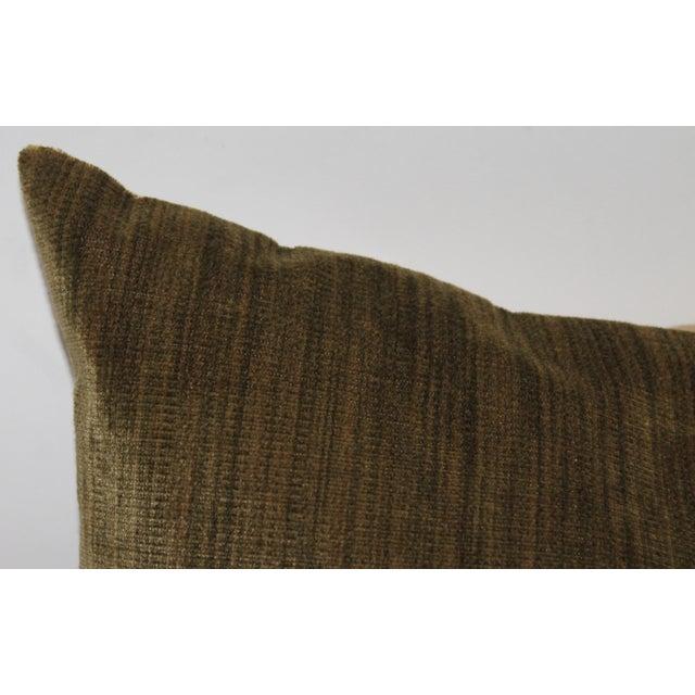 Green Velvet Boslter Pillow For Sale - Image 4 of 6