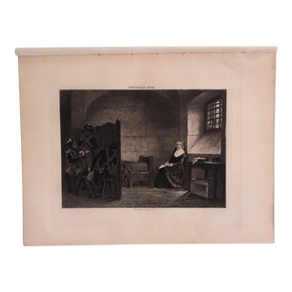 """Antique Photogravure on Paper """"Marie Antoinette,"""" by Theophile Gide Selmar Hess Publishers 1894 For Sale"""