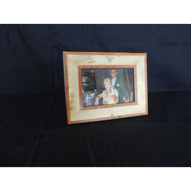 Authentic Gucci Inlaid Wood Picture Frame For Sale In Miami - Image 6 of 6