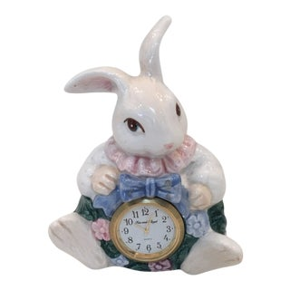 Fitz & Floyd Bunny Quartz Clock For Sale