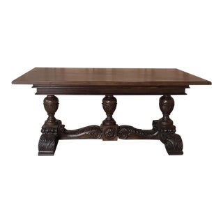 19th Century Italian Walnut Renaissance Table ~ Desk For Sale