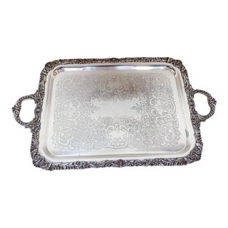 Victorian Silverplate Tray