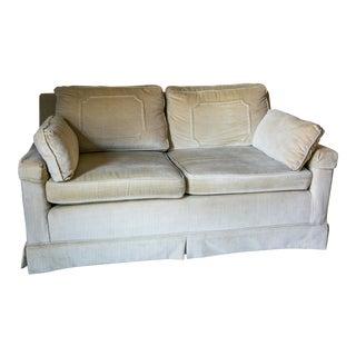 Vintage Cream Velvet Sofa