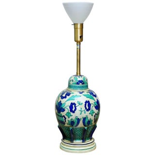 Marbro Italian Ceramic Faience Table Lamp For Sale