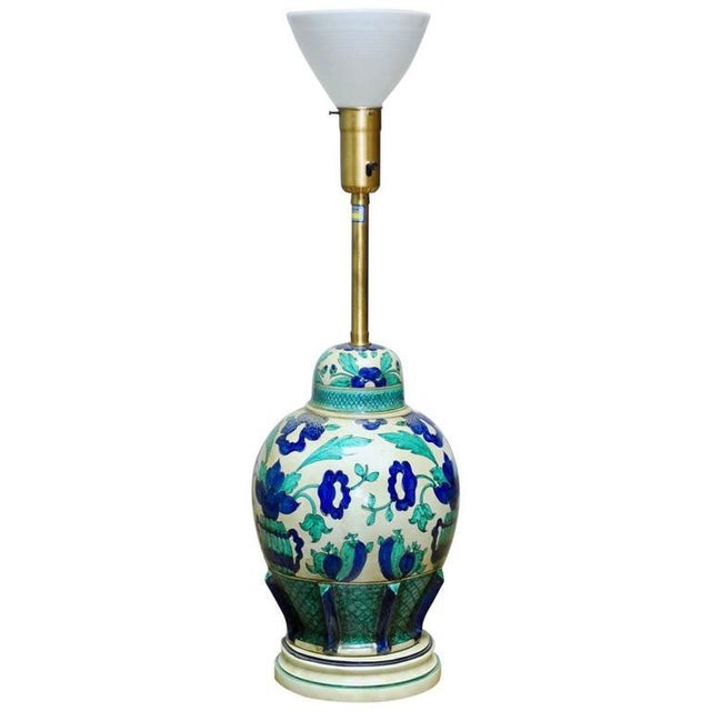 Marbro Italian Ceramic Faience Table Lamp - Image 1 of 9