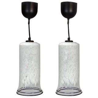 Mid Century VL Murano Glass Pendant Lights - A Pair For Sale