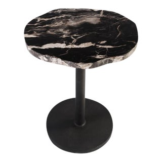 Petrified Wood Top Side Table For Sale