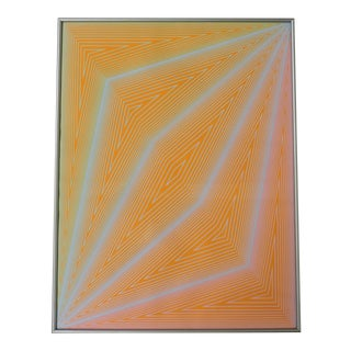 """1970s """"The Eye Sees More"""" Op Art Abstract Serigraph from the Inward Eye Portfolio by Richard Anuszkiewicz, Framed For Sale"""