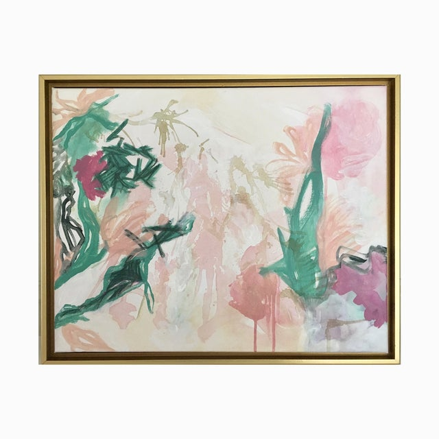 "Abstract Lindsey Weicht ""Flora No. 7"" Abstract Painting For Sale - Image 3 of 5"