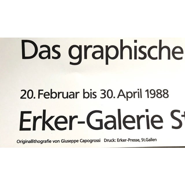 Contemporary 1988 Giuseppe Capogrossi Exhibition Poster For Sale - Image 3 of 5