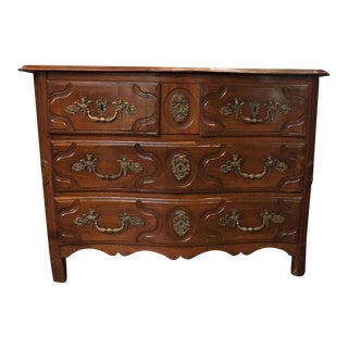 18th Century Carved Walnut Louis XIV Commode For Sale