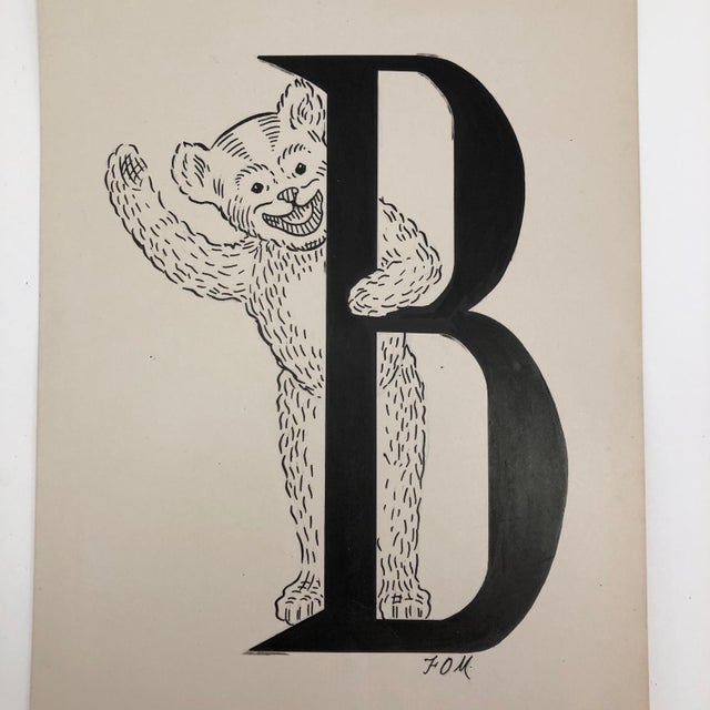 "I found this terrific ""B,"" along with a ""T"" and an ""R"" (listed separately) packed together in an envelope at an antique..."
