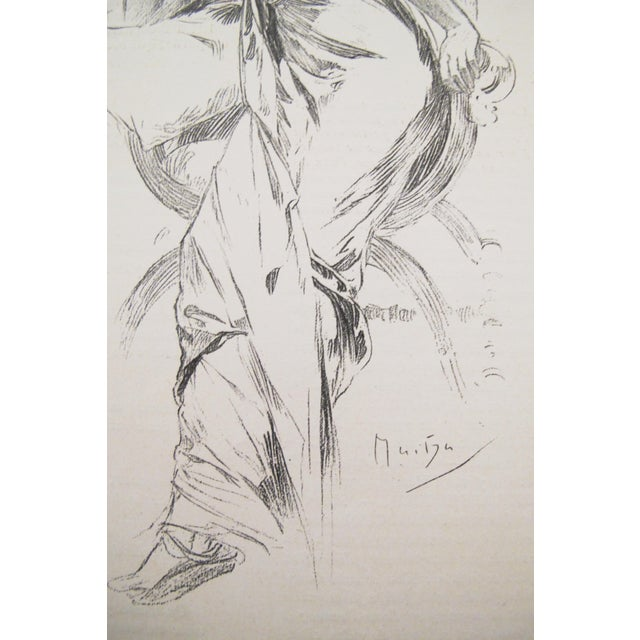 Art Nouveau Original 1899 Alphonse Mucha Illustration, Reverie For Sale - Image 3 of 4