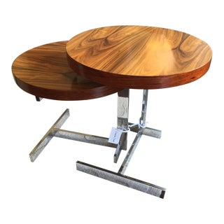 Modern Rosewood Nesting Tables - a Pair For Sale