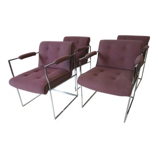 Milo Baughman Dining Arm Chairs for Thayer Coggin - Set of 4 For Sale