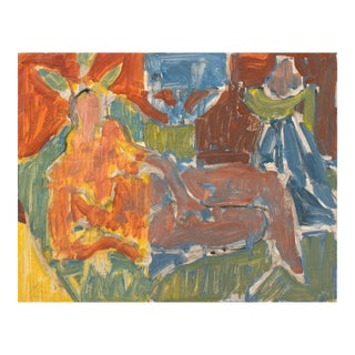 Victor DI Gesu, California Post-Impressionist, 'Reclining Nude' Lacma, Sfaa, Académie Chaumière, Circa 1955 For Sale