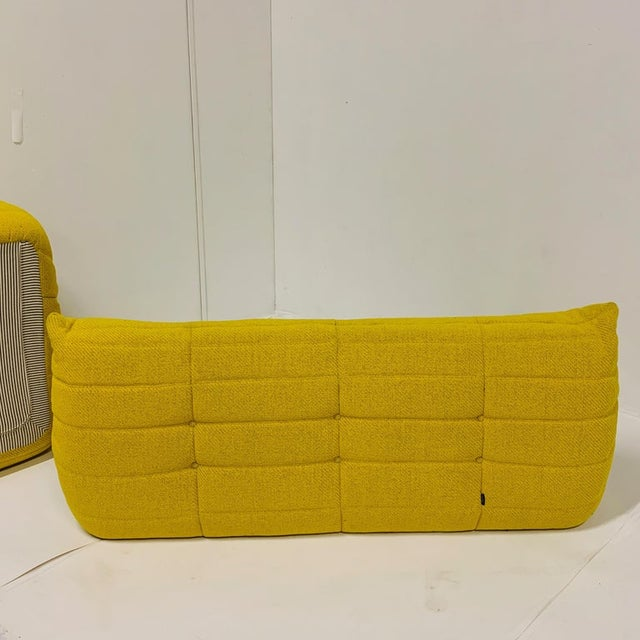 Early 21st Century Michel Ducaroy for Ligne Roset Rare Yellow Toga Sofa / Large Settee 2 Available For Sale - Image 5 of 12