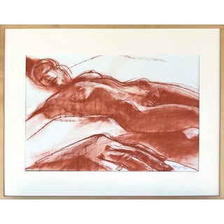 Vintage Mid Century Modern Modern Nude Figure Drawing by Gerard Haggerty For Sale