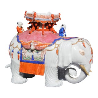 Chinese Porcelain Elephant For Sale