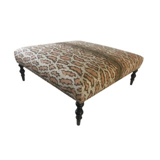 Contemporary Upholstered Coffee Table For Sale