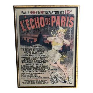 """""""L'echo De Paris"""" Lithograph by Jules Chéret For Sale"""