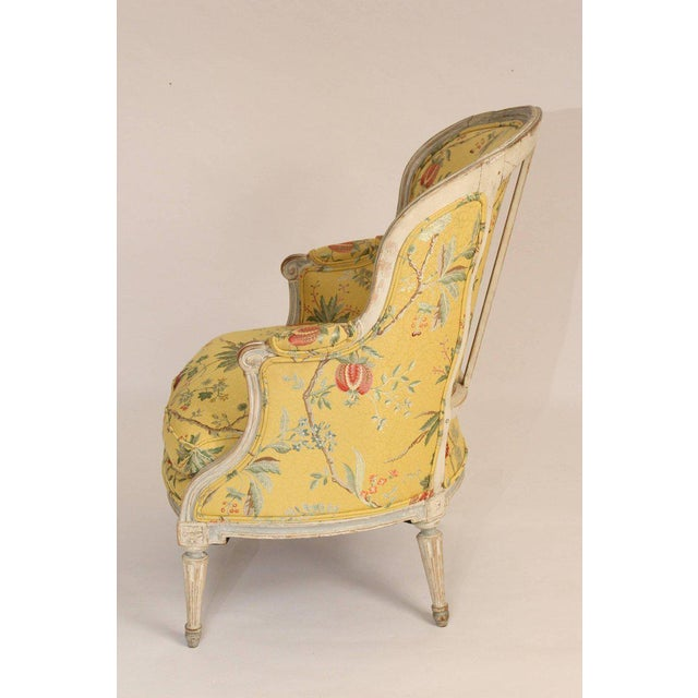 Antique Louis XVI Style Painted Bergere - Image 2 of 11