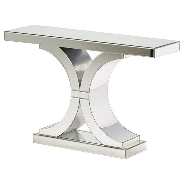 Early 21st Century French Modern Style Mirrored Console For Sale - Image 5 of 5