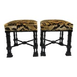 Image of Chinese Chippendale Style Stools, a Pair For Sale