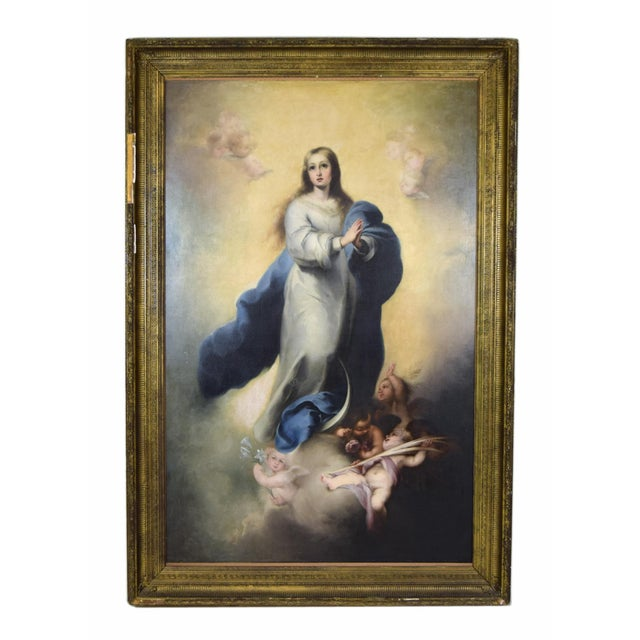 """""""The Immaculate Conception"""" Oil Painting After Giovanni Battista Tiepolo For Sale - Image 13 of 13"""