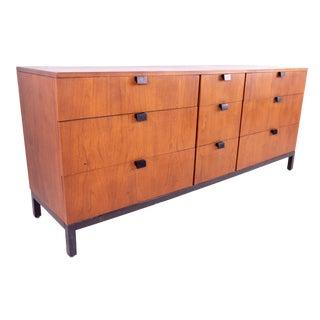 Milo Baughman for Directional 9 Drawer Walnut Mid Century Lowboy Dresser For Sale