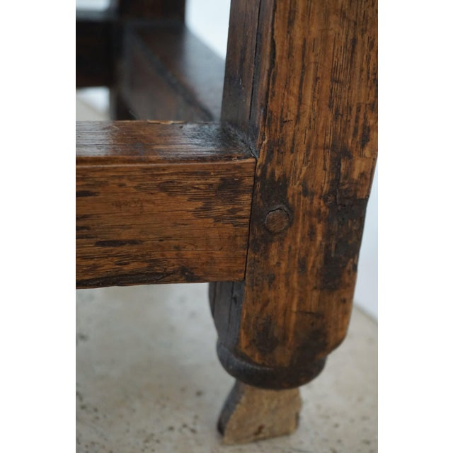 Gold 18th Century English Oak Drop Leaf Gateleg Table For Sale - Image 8 of 13